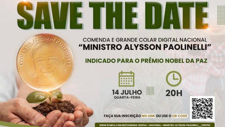 """Comenda e Grande Colar Digital Nacional """"Ministro Alysson Paolinelli"""""""