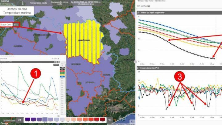 Apos geadas Geosys alerta para a baixa umidade do solo nas areas de trigo e cana de acucar 2