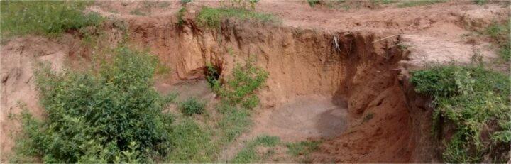 As voçorocas são o estágio mais avançado no processo erosivo.